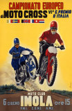 Moto Club Imola Motocross Giclee Print by Pozzi 