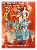 Metropolitan Opera Opening, September 1966 Giclee Print by Marc Chagall