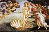 The Birth of Venus, c.1485 Art by Sandro Botticelli