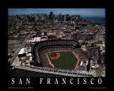 San Francisco - Skyline with Pac Bell Park Poster