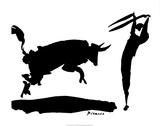 Stierengevecht III Affiches van Pablo Picasso