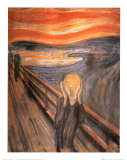Le cri, vers 1893 Affiche par Edvard Munch