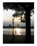 Runner at Sunset on a Summer Day Giclée-tryk af New Yorkled