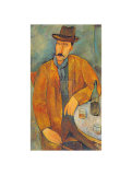Man with a Wine Glass Posters by Amedeo Modigliani