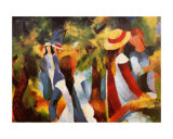 Girls Under the Trees Prints by Auguste Macke