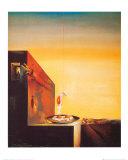 Spiegeleier auf dem Teller ohne den Teller Poster von Salvador Dalí