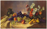 Still Life with Fruit Poster by E. Kruger