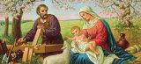 Heilige Familie Kunst af Gustav Klimt