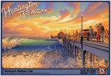Huntington Beach Kunstdruck von Kerne Erickson