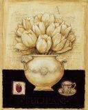 White Tulips and Raspberry Kunst von G.p. Mepas