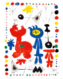 Personnage et Oiseaux Prints by Joan Mir&#243;