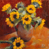 Jug of Sunflowers Prints by Edward Noott