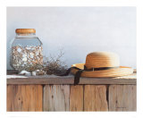 Still Life with Seashells Print by Daniel Pollera