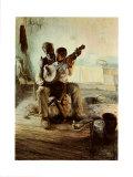 Lección de banjo Láminas por Henry Ossawa Tanner