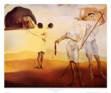Enchanted Beach with Three Fluid Graces Prints by Salvador Dalí