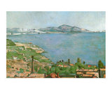 Marseilles Bay Posters by Paul Cézanne