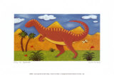 Izzy l&#39;iguanodon Posters par Sophie Harding