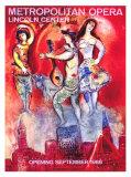 Metropolitan Opera Giclee-trykk av Marc Chagall