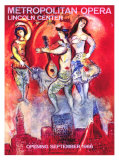 Marc Chagall - Metropolitan Opera - Giclee Baskı