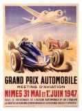 Grand Prix Automobile, meeting d'aviation Impression giclée par Geo Ham