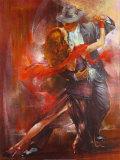 Argentinsk tango II, Tango Argentino II Kunst af Pedro Alvarez