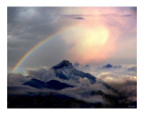 Rainbow in the Rockies Giclee Print by Bill Stephens