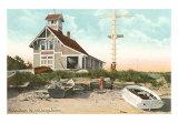 Life Saving Station, Popham, Maine Art Print