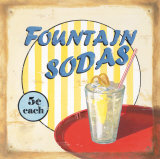Fountain Sodas Prints by Lisa Alderson