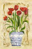 Keramik mit Tulpen Poster von A. Vega