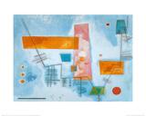 Structure Angulaire Plakater av Wassily Kandinsky