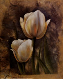Twin Tulip II Poster by Rumi 