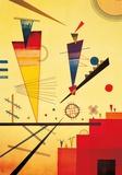 Vrolijke structuur Posters van Wassily Kandinsky