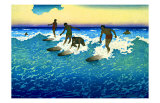 Hawaiian Surf Riders Giclee Print