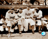 Jackie Robinson - First Day, with Spider Jorgenson, Pee Wee Reese, Ed Stankey Photo