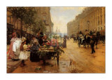 Rue Royale, Paris Art by L. Shryver