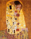 Suudelma, n. 1907 Posters tekijänä Gustav Klimt