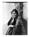 Young Girl Smiling Giclee Print by Edward S. Curtis
