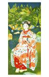 Japanese Woman in Kimono Giclee Print