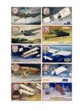 Biplane Pioneer Pilots of Aviation Giclee Print