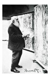 Claude Monet in Art Studio, Giclee Print