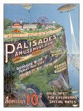Parc d'attraction de Palisades Impression giclée