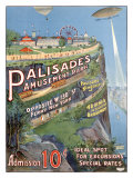 Palisades Amusement Park Giclee-trykk