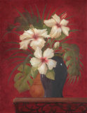 Tropical Hibiscus II Prints by Gloria Eriksen