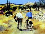 Vers le village Poster by Andre Deymonaz