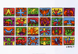 Retrospect von 1989 Poster von Keith Haring