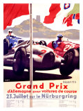Grand Prix Allemagne Giclee Print by Alfred Hierl