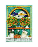 Blossoming Kitchen I Prints by Jean-Pierre Delyle