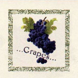 Grapes Poster by Gloria Eriksen