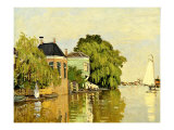 Landscape at Zaandam IV Reproduction procédé giclée par Claude Monet