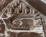 Polo Grounds - Aerial view, sepia Photo